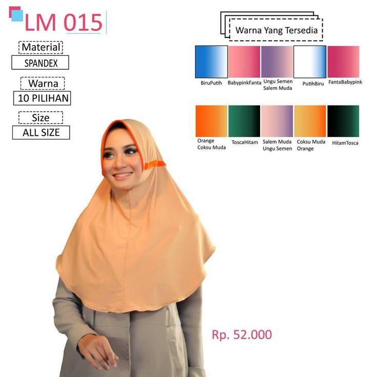 LM 015 Lamia Hijab - Kerudung Bergo Syar'i bahan kualitas premium, nyaman dipakai dan anti gerah. Material : Spandex. Size : All Size. #lamiahijab #hijabindonesia #kerudunginstan #bergo