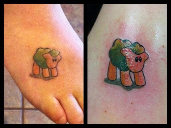 black sheep tattoo cover up