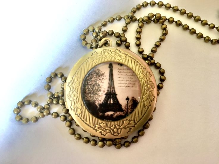 Solid Perfume in French Eiffel Tower Locket, necklace Hand Made essential oil perfume by RainbowSunflower on Etsy