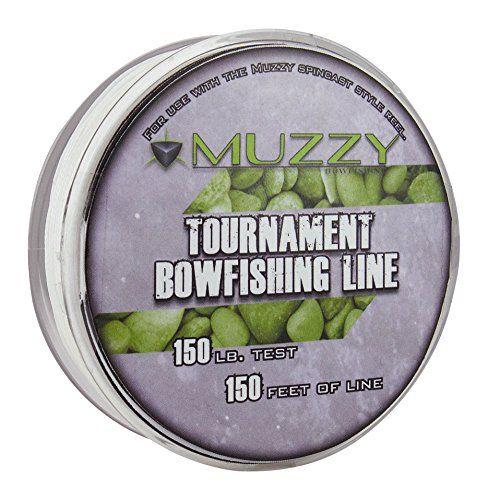 Muzzy 1076 Spool Size 150 #Tournament Bowfishing Line, 150 ft.  http://fishingrodsreelsandgear.com/product/muzzy-1076-spool-size-150-tournament-bowfishing-line-150-ft/  Muzzy Tournament Bowfishing Line is in a convenient 150′ spool This Muzzy Bowfishing line is for use with Spincast style reels 150 lb. test, spool size tournament line