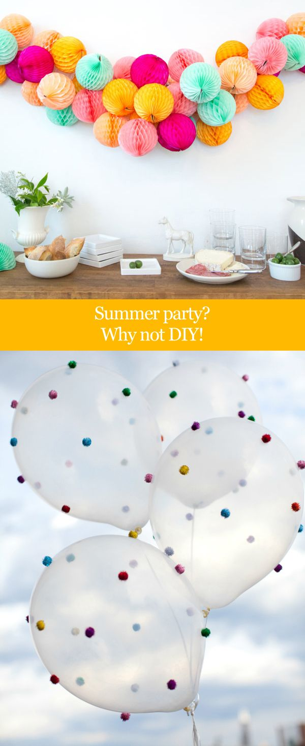 Fun, simple, colorful decoration ideas for a party.