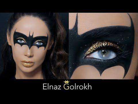 آموزش میکاپ هالووین با الناز گلرخ halloween makeup tutorial inspired batgirl - YouTube