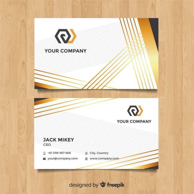 Modern Business Card Template With Elegant Style Free Vector Modern Business Cards Free Business Card Design Visiting Card Design