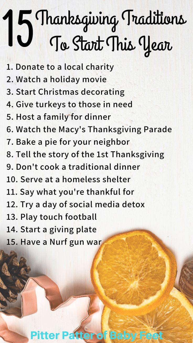 15 Family Thanksgiving Traditions To Start This Year