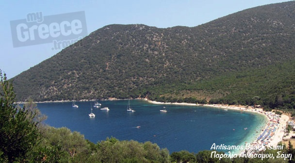 The Antisamos beach in Sami by www.kefalonia-tours.com