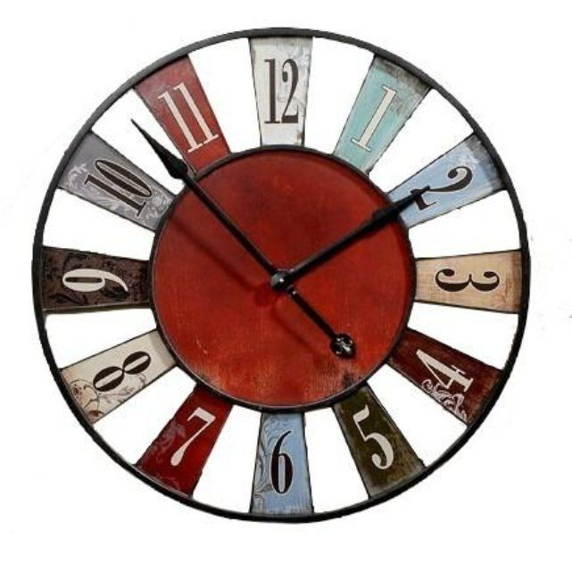 Awesome horloge murale originale multicolore bilbao cm with horloge rouge cuisine for Horloge inox cuisine