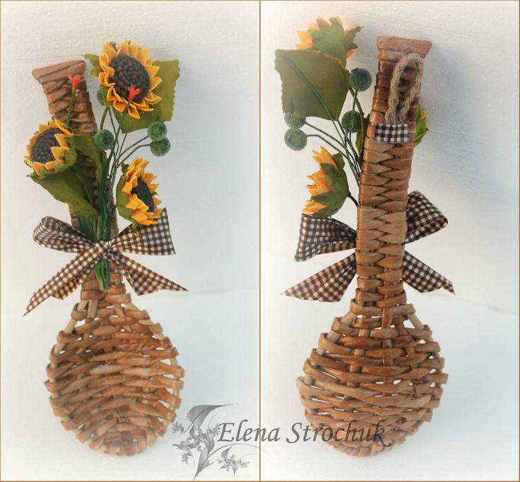 плетеная ложечка с декором