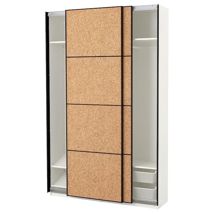 pax wardrobe white kirkenes cork veneer 59x17 3 8x93 1 8