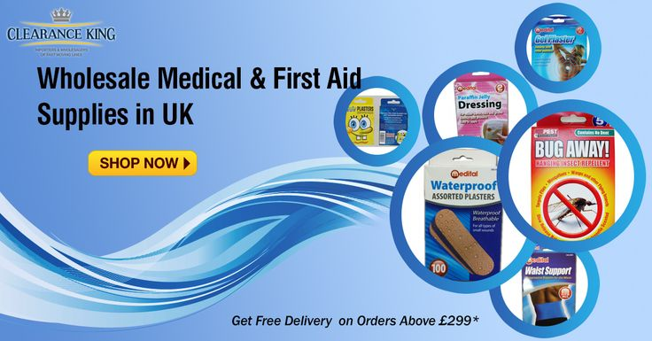 Buy #Wholesale #Medical Supplies & First Aid Supplies. Get #free delivery on orders above £299 at Clearance King #firstaid #medicalsupplies #wholesalefirstaid #uk #manchester Order Now: http://goo.gl/S3w1QK