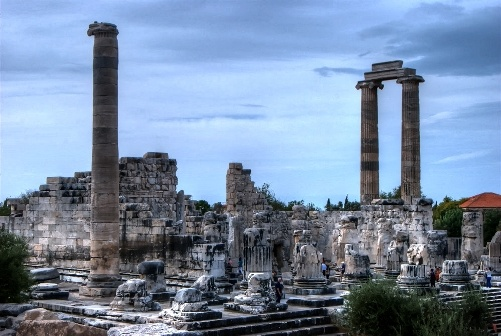 Temple of Apollo at Didim on the Aegean coast of Turkey #altinkum #didim #turkey