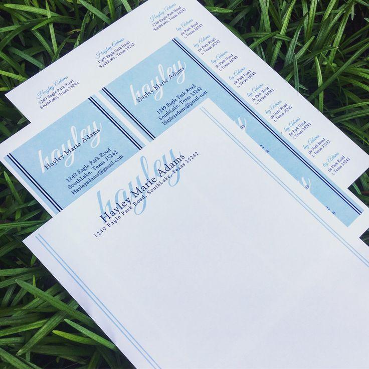 Sorority Recruitment Packet and Return Address Stickers