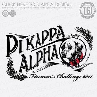 Pi Kappa Alpha | ΠKA | Pike | Firemen's Challenge | Philanthropy | TGI Greek | Greek Apparel | Custom Apparel | Fraternity Tee Shirts | Fraternity T-shirts | Custom T-Shirts