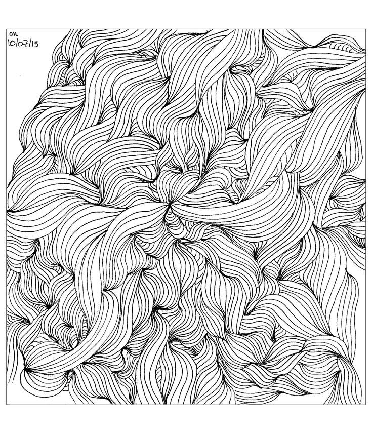 Free Coloring Page Cathym18 Tangle Lines Exclusive By
