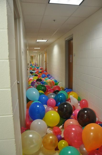April Fools for your freshman year Floor Theme (balloons)...
