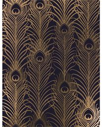 Peacock Dark Violet/Metallic Antique Gold från Matthew Williamson
