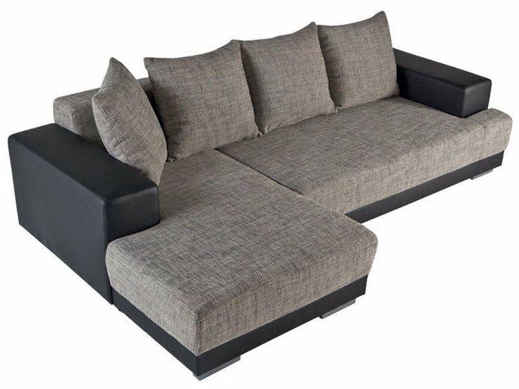 canap convertible d 39 angle gauche toast coloris noir gris vente de canap d 39 angle conforama. Black Bedroom Furniture Sets. Home Design Ideas