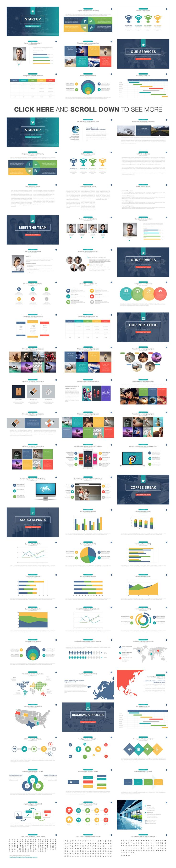 Startup Business Keynote Template by Slidedizer on @creativemarket