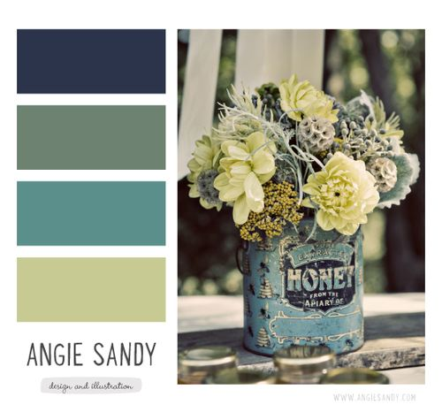 Color Crush 1.12.2014 Angie Sandy navy blue sage green teal lime