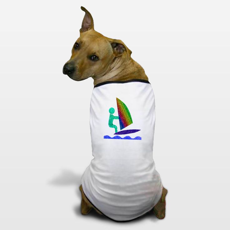 Shop for unique nursery art like the Wind Surfing dude Dog T-Shirts by haroulita on BoomBoomPrints today!  Customize colors, style and design to make the artwork in your baby's room their own!