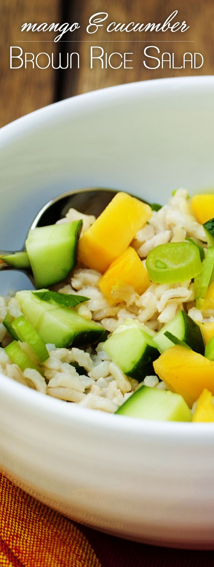 Mango, Cucumber Brown Rice Salad - a light and refreshing grain based ...
