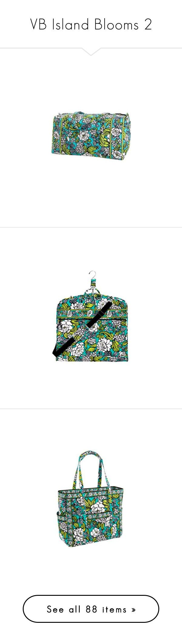 """""""VB Island Blooms 2"""" by somethingshines ❤ liked on Polyvore featuring bags, luggage, vera bradley, duffel bags, tote handbags, quilted tote bag, quilted duffle bag, travel bag, handbags and tote bags"""