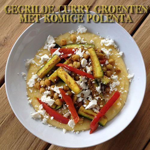 Gegrilde curry groenten met romige polenta http://wateetjedanwel.nl/gegrilde-curry-groenten-met-romige-polenta/