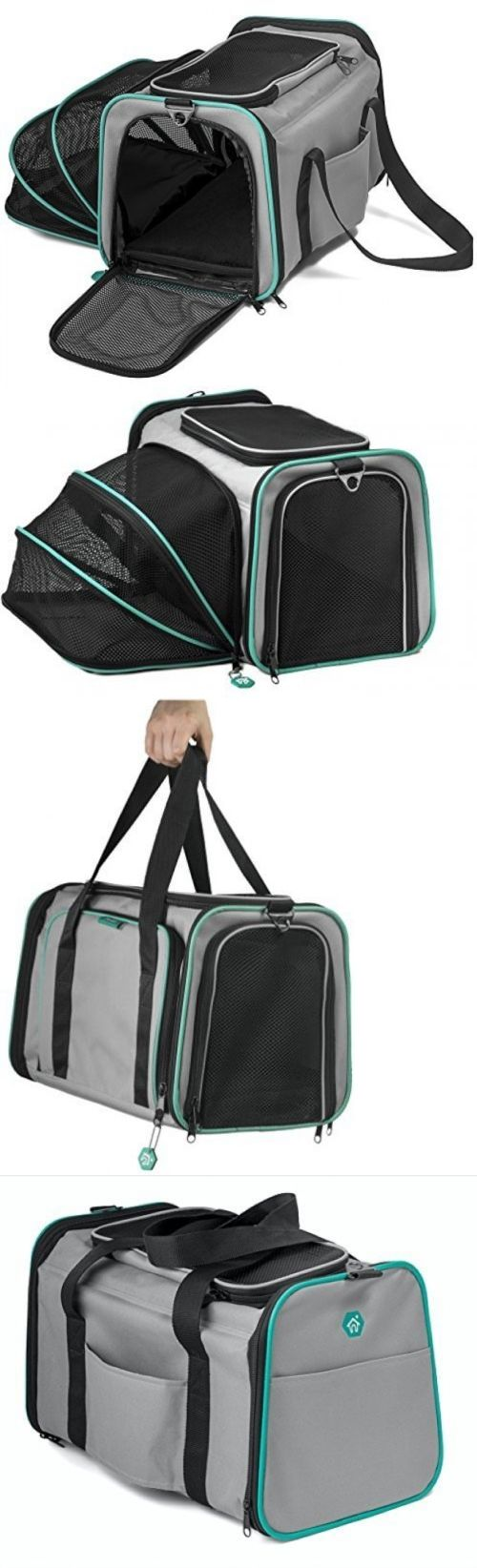 Carriers and Crates 26702: Pawdle Expandable And Foldable Pet Carrier Domestic Airline Approved (Heather -> BUY IT NOW ONLY: $49.25 on eBay!