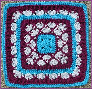 "Beauty In Excellence - 9""/12"" Afghan Block Square - Free crochet pattern by Margaret MacInnis"
