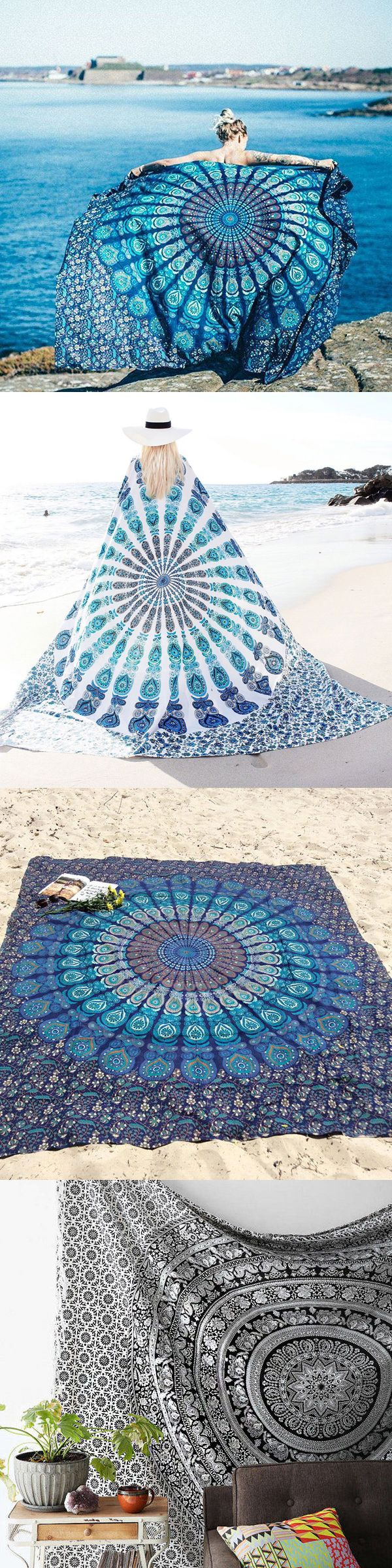 $14.26 Bohemian Style Thin Chiffon Beach Yoga Towel