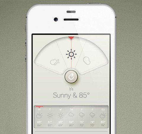 Wthr: Weather App Inspired by Braun | WANKEN - The Art & Design blog of Shelby White