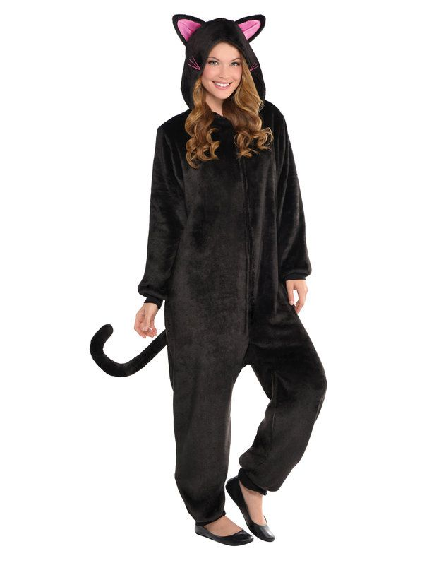 Check out Adult Black Cat Onesie Costume   Costume SuperCenter   Buy It On Sale from Costume Super Center