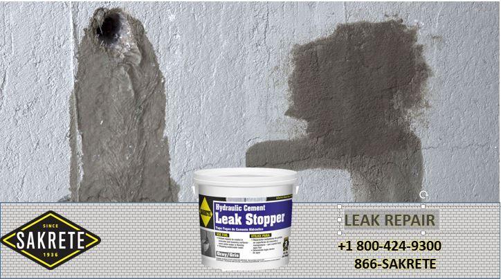 Sakrete Hydraulic Cement Leak Stopper