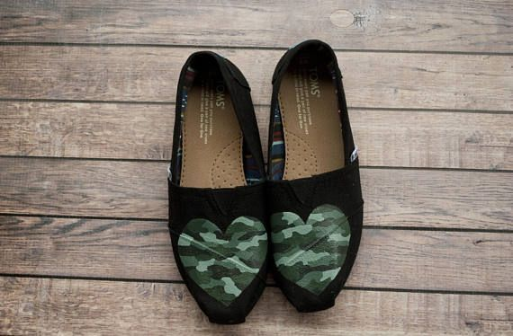 Hand Painted Women's Camo Toms