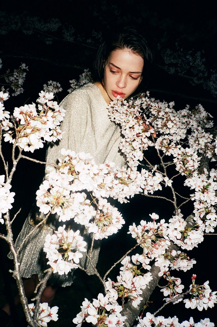 ❀ Flower Maiden Fantasy ❀ beautiful art fashion photography of women and flowers - white night fleurs