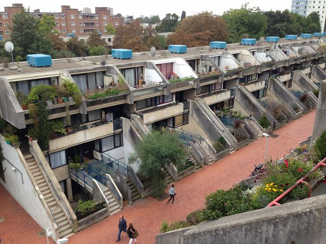 Alexandra road housing estate via LOVE LONDON COUNCIL HOUSING. Architect Neave Brown.