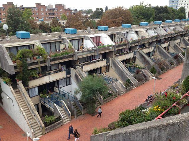 Alexandra road housing estate via LOVE LONDON COUNCIL HOUSING. Architect Neave Brown.