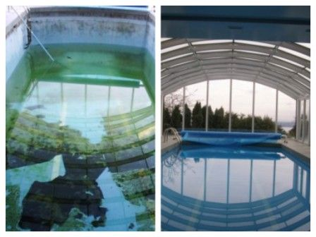 Pool Cleaning (Before & After)