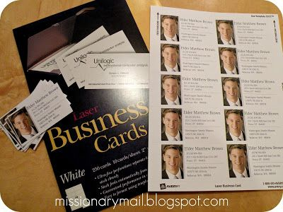 Missionary Mail: Missionary 'Business' Cards