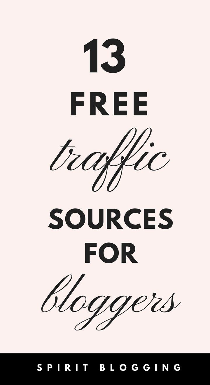 Free traffic sources for bloggers