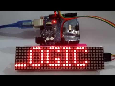 4in1 Dot Matrix Led Module 32x8 pixel MAX7219 to Arduino