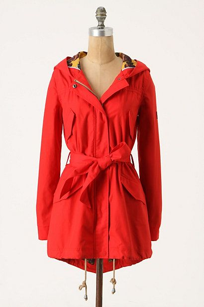 Heritage Raincoat from Anthropologie, I really want a cute bright raincoat, it would really come in handy if I move to the UK! - I like the yellow one too!