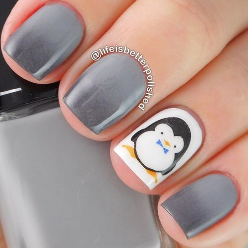 Penguin Nail Art Designs: 1000+ Ideas About Penguin Nails On Pinterest