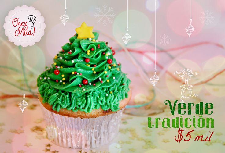 Nada más delicioso que un árbol de navidad comestible y hermoso, perfecto para adornar tu mesa y después disfrutarlo en familia. Disfrútalo aquí https://www.facebook.com/chezmua/app_137541772984354  #cupcake #navidad #calico