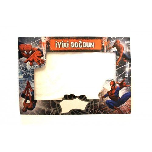 Spider Man İyiki Doğdun Çerçevesi