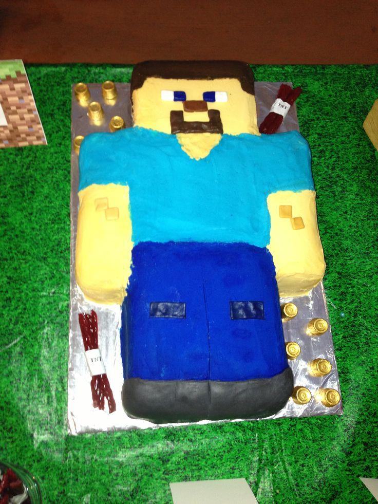 Steve Minecraft Cake Cakes Pinterest Image Search