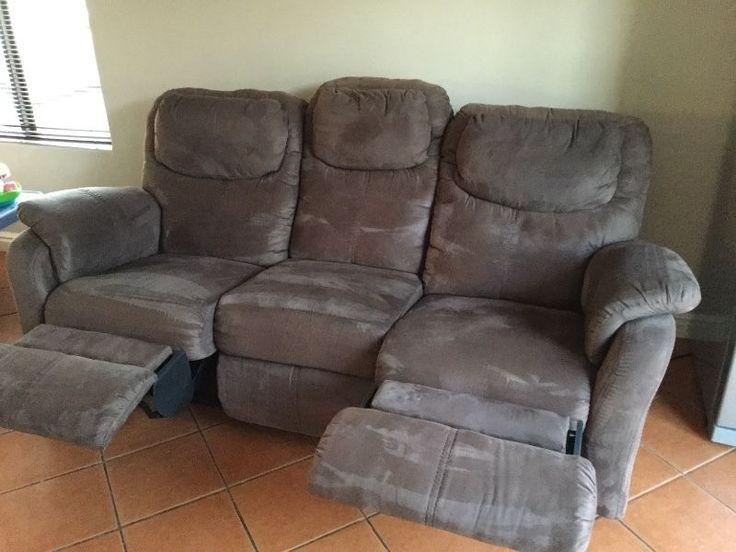Brown Suede Lounge Suite