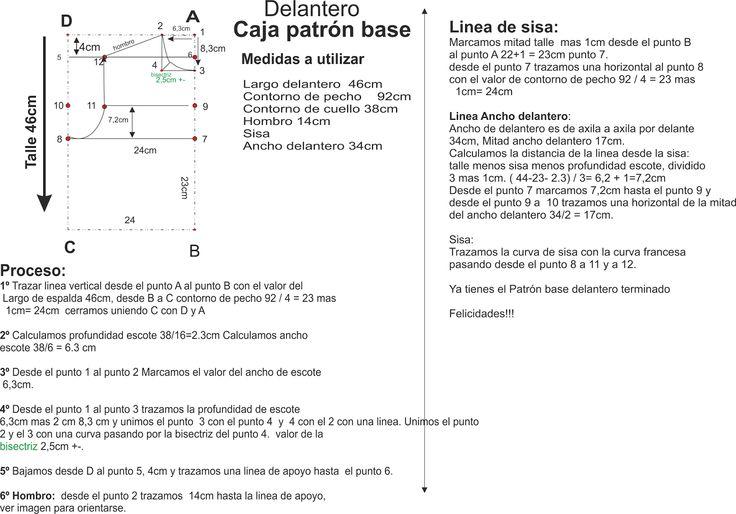 Curso de patrones base y moda: Patrón base delantero paso a paso