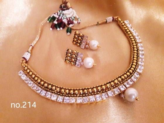 Shopo.in : Buy Ethnic Traditional Kundan Polki Necklace Set online at best price in Ghaziabad, India