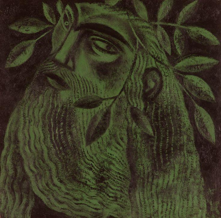 Clive Hicks-Jenkins artwork. Green Knight