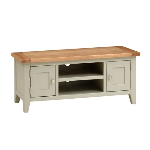 Could paint tv cabinet and leave top wooden?